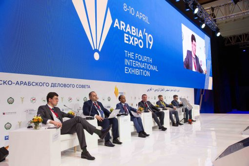 Maxim Zagornov spoke at the panel session «Energy» at the international exhibition «Arabia Expo»